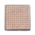 WOVEN1 WHITE MARBLE & RUSTED METAL (R) Memory Card Reader (Square) Front
