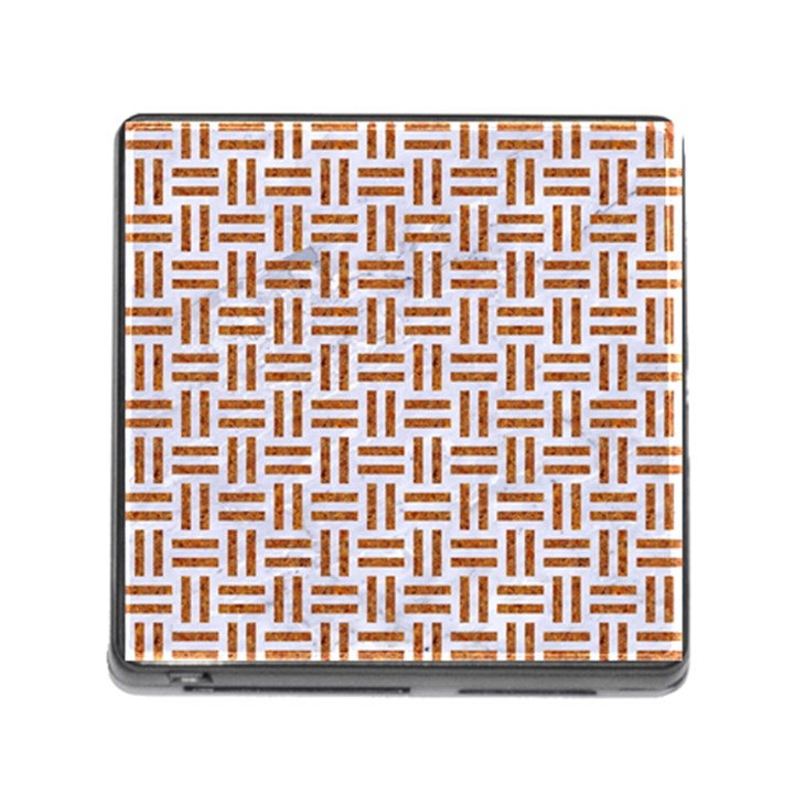 WOVEN1 WHITE MARBLE & RUSTED METAL (R) Memory Card Reader (Square)