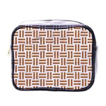WOVEN1 WHITE MARBLE & RUSTED METAL (R) Mini Toiletries Bags Front
