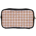 WOVEN1 WHITE MARBLE & RUSTED METAL (R) Toiletries Bags 2-Side Front