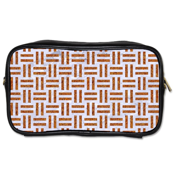 WOVEN1 WHITE MARBLE & RUSTED METAL (R) Toiletries Bags 2-Side