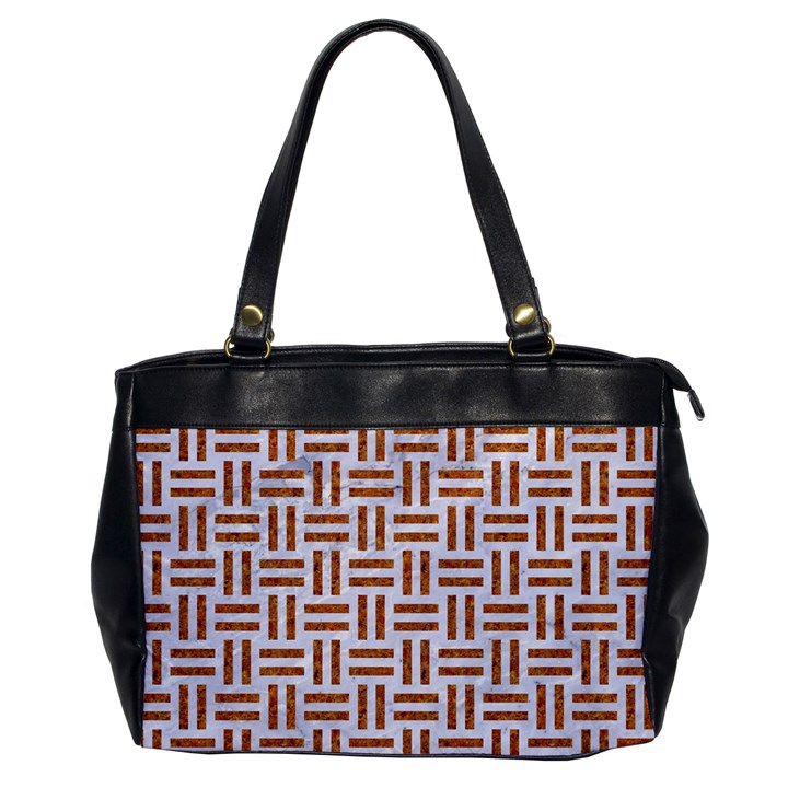 WOVEN1 WHITE MARBLE & RUSTED METAL (R) Office Handbags