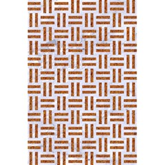 Woven1 White Marble & Rusted Metal (r) 5 5  X 8 5  Notebooks
