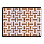 WOVEN1 WHITE MARBLE & RUSTED METAL (R) Fleece Blanket (Small) 50 x40 Blanket Front
