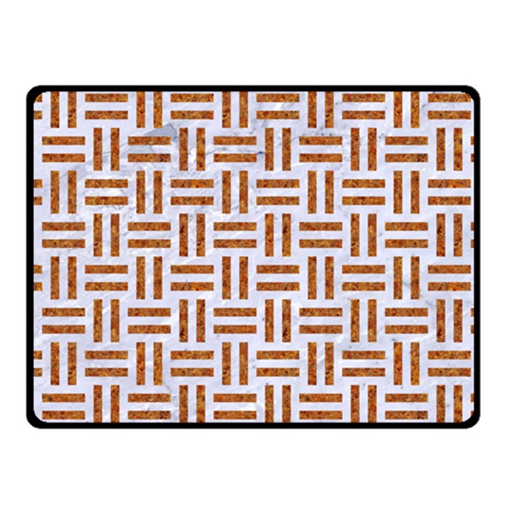 WOVEN1 WHITE MARBLE & RUSTED METAL (R) Fleece Blanket (Small)