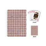 WOVEN1 WHITE MARBLE & RUSTED METAL (R) Playing Cards (Mini)  Back