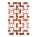 WOVEN1 WHITE MARBLE & RUSTED METAL (R) Shower Curtain 48  x 72  (Small)  42.18 x64.8 Curtain