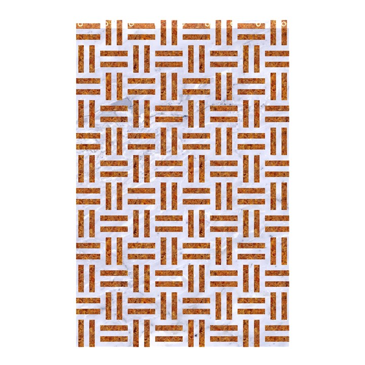WOVEN1 WHITE MARBLE & RUSTED METAL (R) Shower Curtain 48  x 72  (Small)