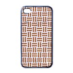 WOVEN1 WHITE MARBLE & RUSTED METAL (R) Apple iPhone 4 Case (Black) Front