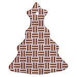 WOVEN1 WHITE MARBLE & RUSTED METAL (R) Ornament (Christmas Tree)  Front