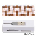 WOVEN1 WHITE MARBLE & RUSTED METAL (R) Memory Card Reader (Stick)  Front