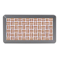 Woven1 White Marble & Rusted Metal (r) Memory Card Reader (mini)