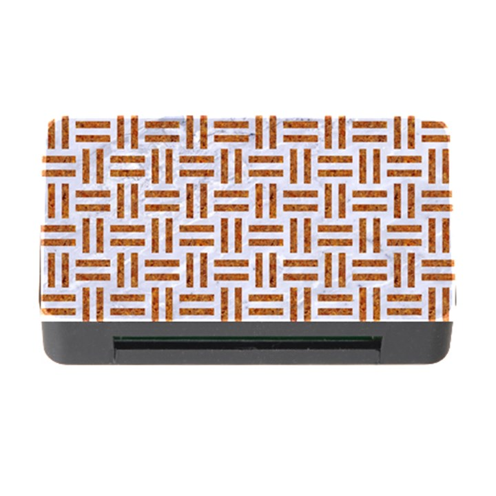 WOVEN1 WHITE MARBLE & RUSTED METAL (R) Memory Card Reader with CF