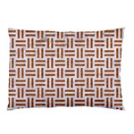 WOVEN1 WHITE MARBLE & RUSTED METAL (R) Pillow Case (Two Sides) Front