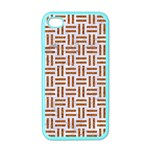 WOVEN1 WHITE MARBLE & RUSTED METAL (R) Apple iPhone 4 Case (Color) Front
