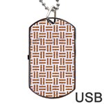 WOVEN1 WHITE MARBLE & RUSTED METAL (R) Dog Tag USB Flash (Two Sides) Back