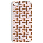 WOVEN1 WHITE MARBLE & RUSTED METAL (R) Apple iPhone 4/4s Seamless Case (White) Front