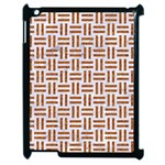 WOVEN1 WHITE MARBLE & RUSTED METAL (R) Apple iPad 2 Case (Black) Front