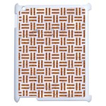 WOVEN1 WHITE MARBLE & RUSTED METAL (R) Apple iPad 2 Case (White) Front