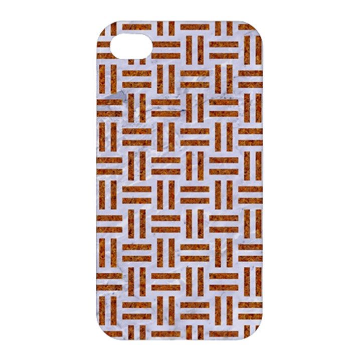 WOVEN1 WHITE MARBLE & RUSTED METAL (R) Apple iPhone 4/4S Hardshell Case
