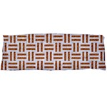 WOVEN1 WHITE MARBLE & RUSTED METAL (R) Body Pillow Case Dakimakura (Two Sides) Back