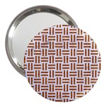 WOVEN1 WHITE MARBLE & RUSTED METAL (R) 3  Handbag Mirrors Front