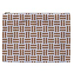 WOVEN1 WHITE MARBLE & RUSTED METAL (R) Cosmetic Bag (XXL)  Front
