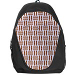 WOVEN1 WHITE MARBLE & RUSTED METAL (R) Backpack Bag Front