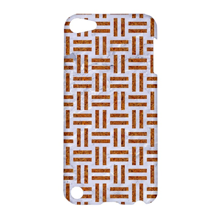 WOVEN1 WHITE MARBLE & RUSTED METAL (R) Apple iPod Touch 5 Hardshell Case