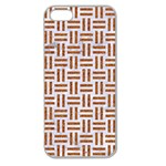 WOVEN1 WHITE MARBLE & RUSTED METAL (R) Apple Seamless iPhone 5 Case (Clear) Front
