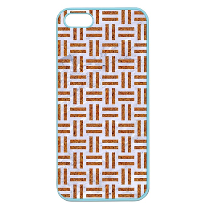 WOVEN1 WHITE MARBLE & RUSTED METAL (R) Apple Seamless iPhone 5 Case (Color)