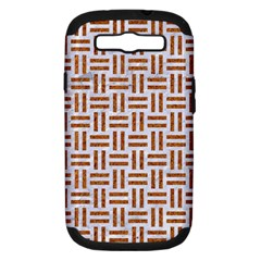 Woven1 White Marble & Rusted Metal (r) Samsung Galaxy S Iii Hardshell Case (pc+silicone)