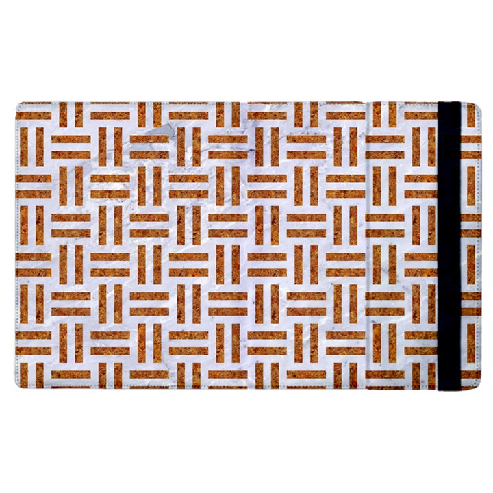 WOVEN1 WHITE MARBLE & RUSTED METAL (R) Apple iPad 3/4 Flip Case