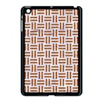 WOVEN1 WHITE MARBLE & RUSTED METAL (R) Apple iPad Mini Case (Black) Front