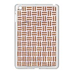 WOVEN1 WHITE MARBLE & RUSTED METAL (R) Apple iPad Mini Case (White) Front