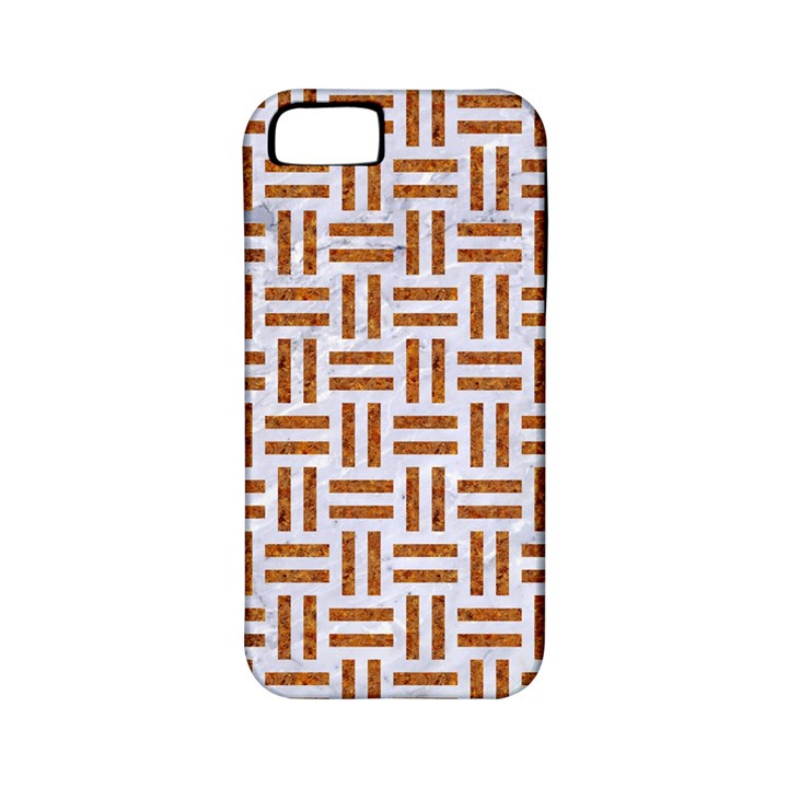 WOVEN1 WHITE MARBLE & RUSTED METAL (R) Apple iPhone 5 Classic Hardshell Case (PC+Silicone)