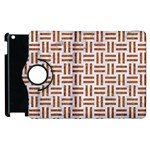 WOVEN1 WHITE MARBLE & RUSTED METAL (R) Apple iPad 2 Flip 360 Case Front