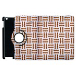 WOVEN1 WHITE MARBLE & RUSTED METAL (R) Apple iPad 3/4 Flip 360 Case Front