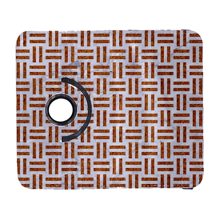 WOVEN1 WHITE MARBLE & RUSTED METAL (R) Galaxy S3 (Flip/Folio)