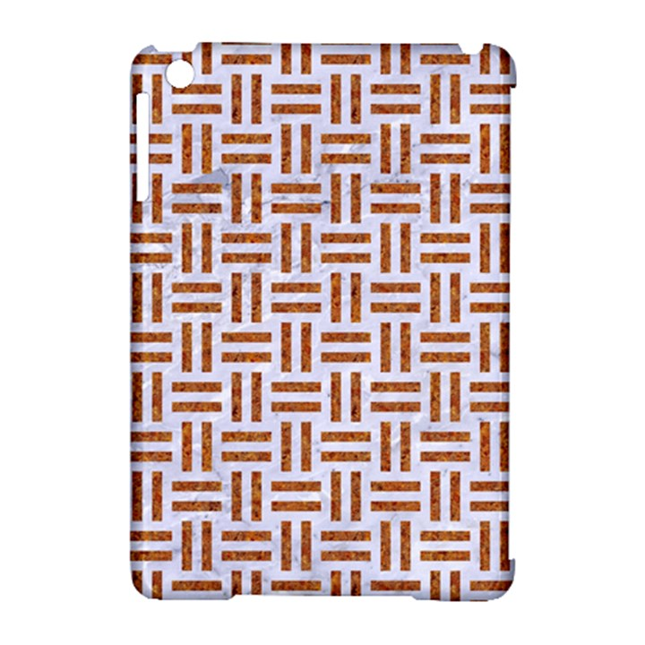 WOVEN1 WHITE MARBLE & RUSTED METAL (R) Apple iPad Mini Hardshell Case (Compatible with Smart Cover)