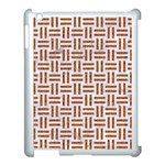 WOVEN1 WHITE MARBLE & RUSTED METAL (R) Apple iPad 3/4 Case (White) Front