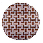 WOVEN1 WHITE MARBLE & RUSTED METAL (R) Large 18  Premium Round Cushions Front