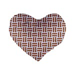 WOVEN1 WHITE MARBLE & RUSTED METAL (R) Standard 16  Premium Heart Shape Cushions Front