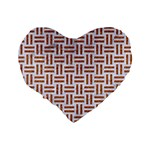 WOVEN1 WHITE MARBLE & RUSTED METAL (R) Standard 16  Premium Heart Shape Cushions Back