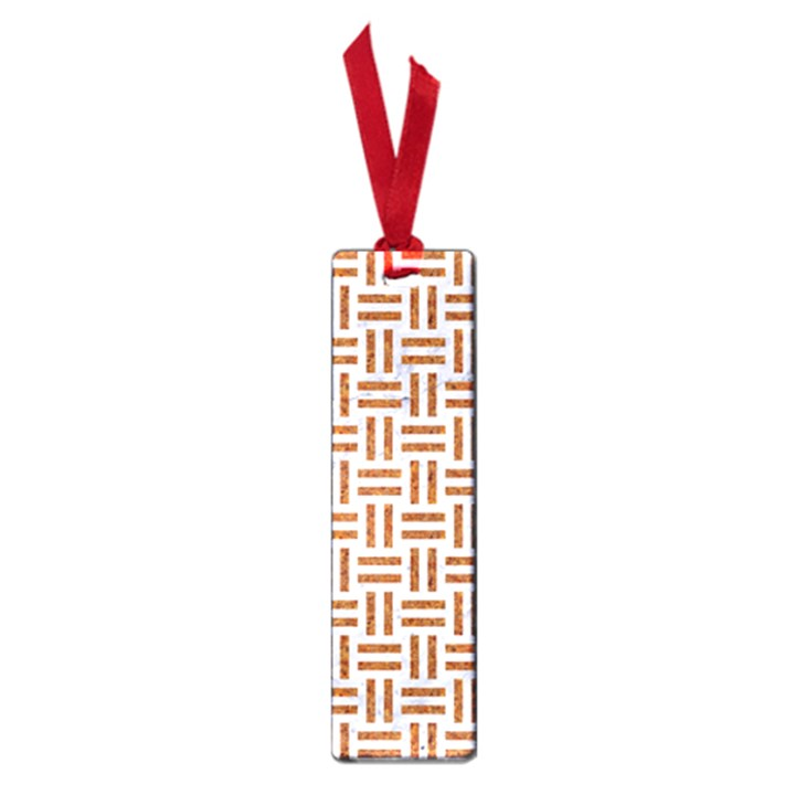 WOVEN1 WHITE MARBLE & RUSTED METAL (R) Small Book Marks