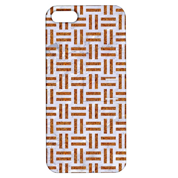 WOVEN1 WHITE MARBLE & RUSTED METAL (R) Apple iPhone 5 Hardshell Case with Stand