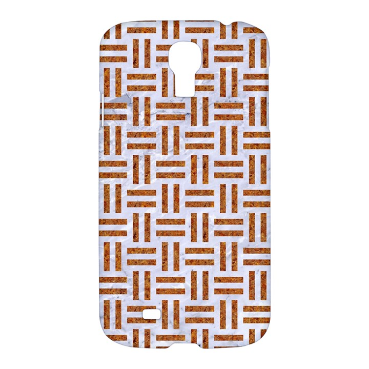 WOVEN1 WHITE MARBLE & RUSTED METAL (R) Samsung Galaxy S4 I9500/I9505 Hardshell Case