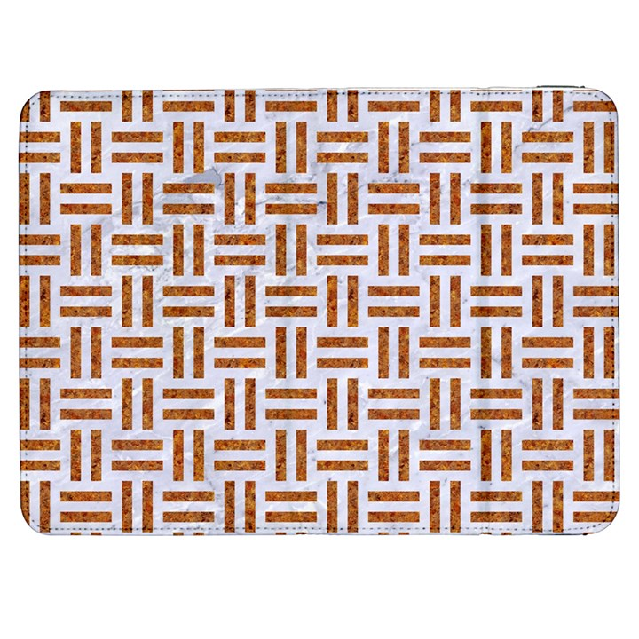 WOVEN1 WHITE MARBLE & RUSTED METAL (R) Samsung Galaxy Tab 7  P1000 Flip Case