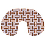 WOVEN1 WHITE MARBLE & RUSTED METAL (R) Travel Neck Pillows Front