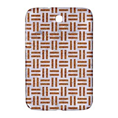 Woven1 White Marble & Rusted Metal (r) Samsung Galaxy Note 8 0 N5100 Hardshell Case